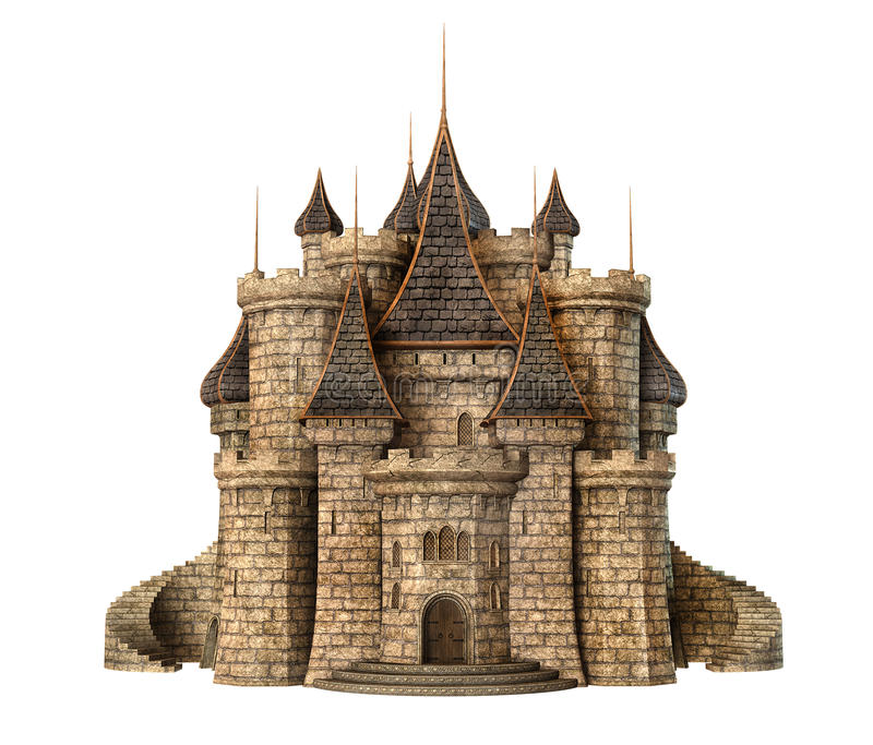 Fantasy Castle Stock Illustrations.