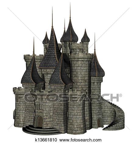 Fantasy Castle Clipart.