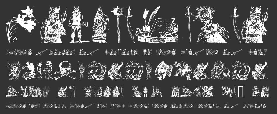 Fantasy Clipart Font.
