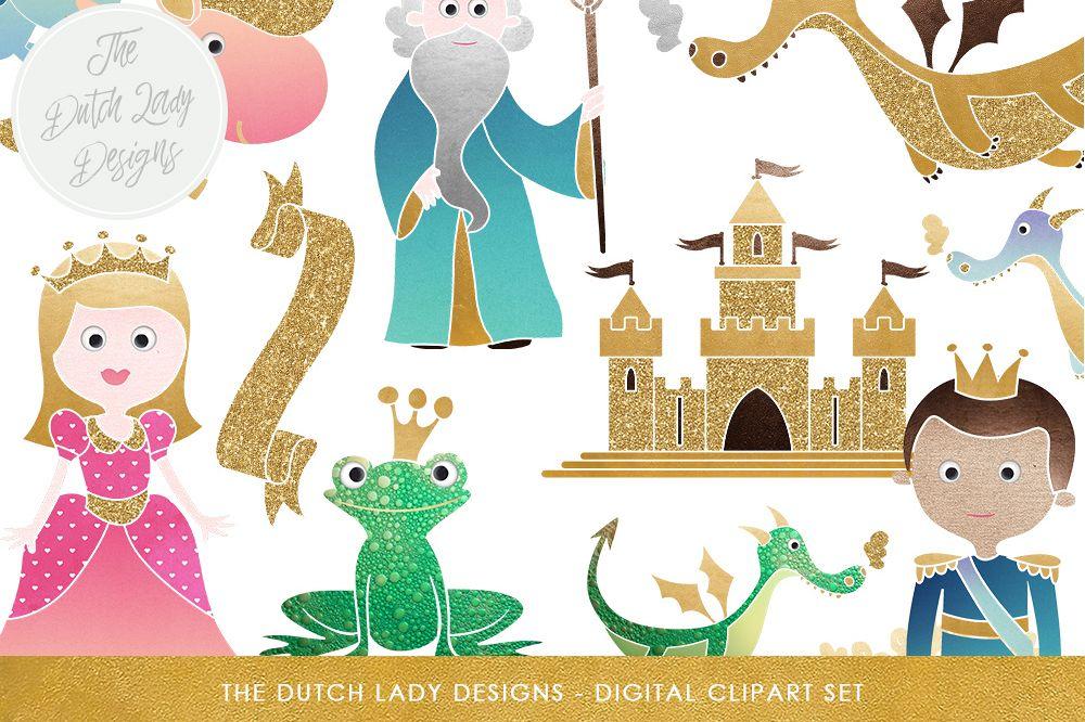 Fairytale Fantasy Clipart Set.