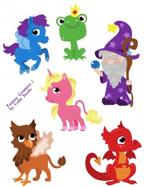 Fantasy Creatures Clipart 1 Free Stock Photo.