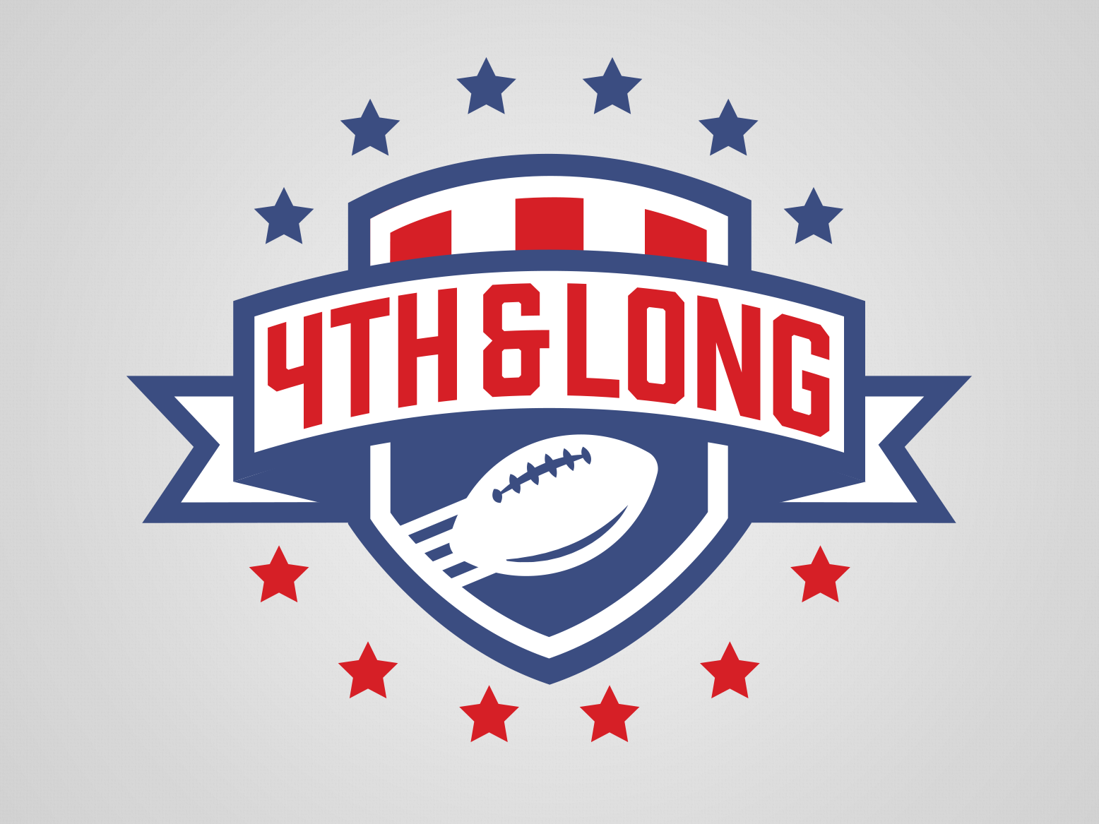 4th and Long Fantasy Football League Shield by Ben Rush on.
