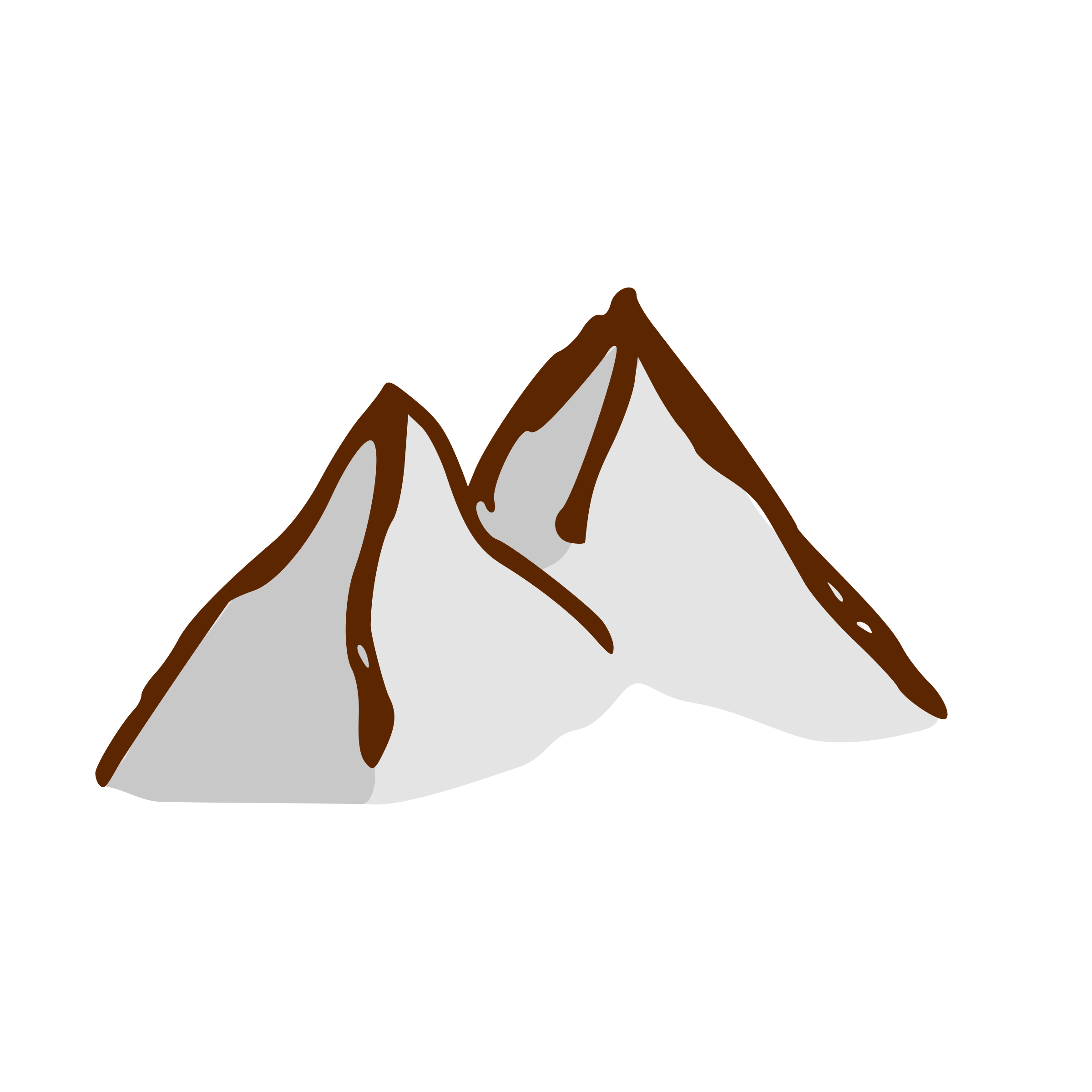 Small Map Mountains Clipart.