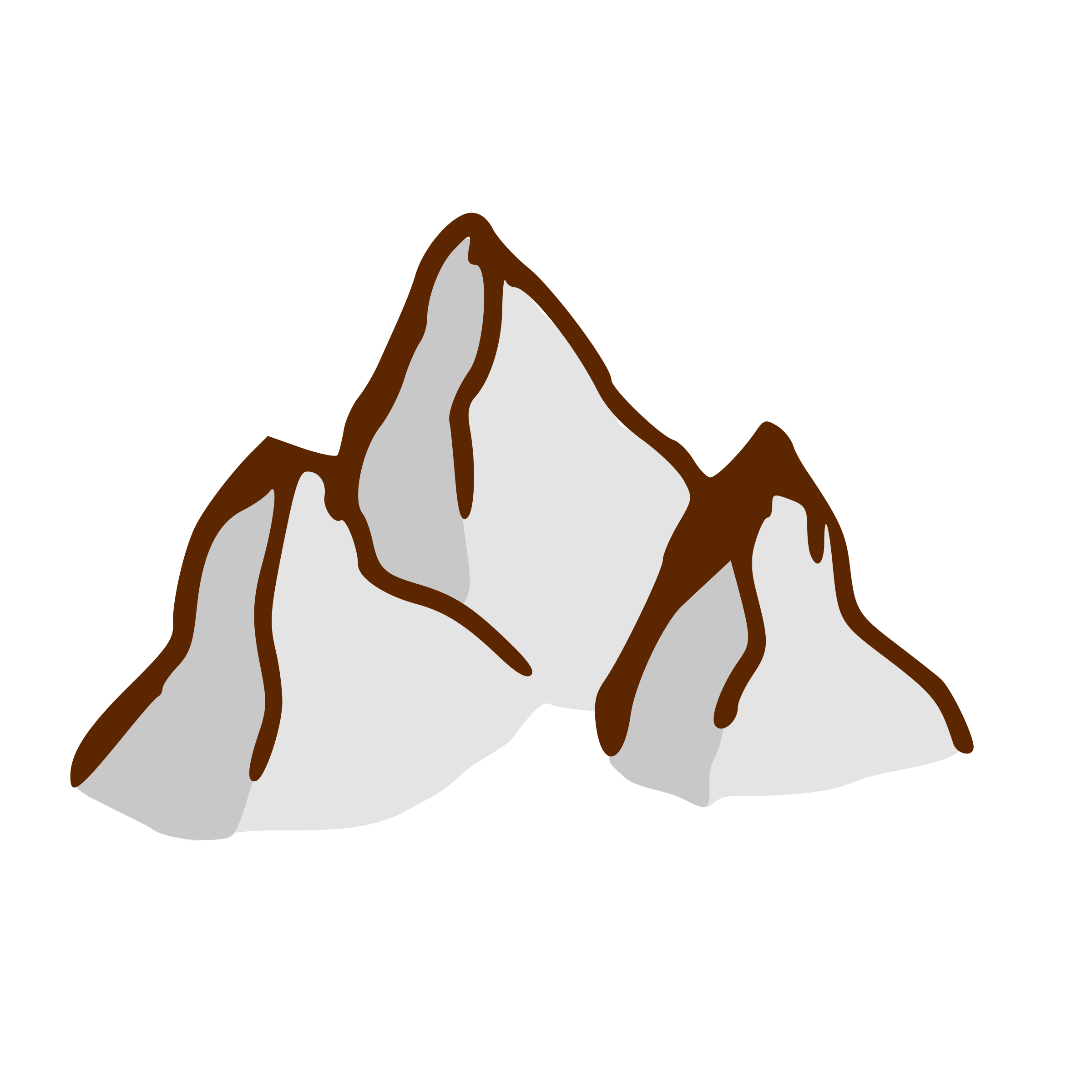 Fantasy Map Mountains Clipart.