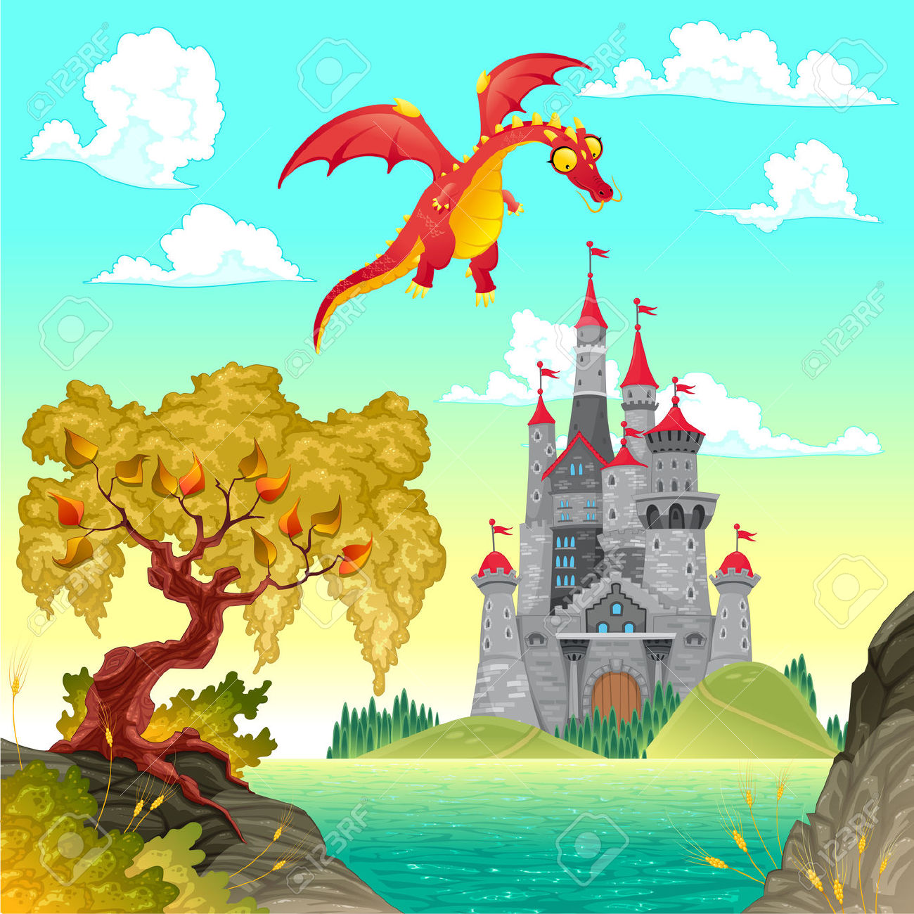 Fantasy world clipart.