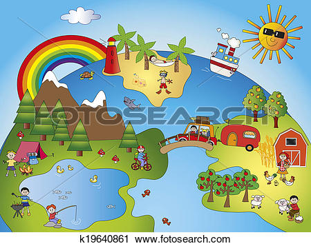 Clipart of fantasy world k19640861.