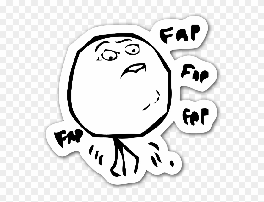 Fap Fap Fap Sticker.