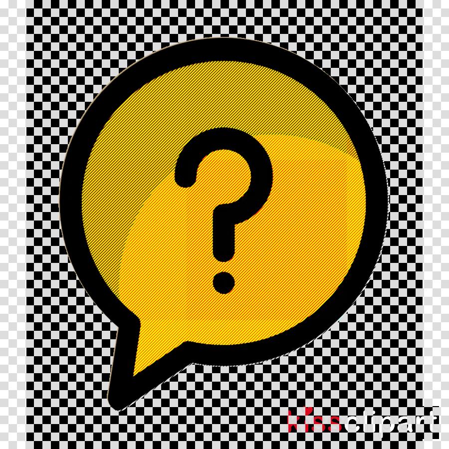 Digital marketing icon Question icon Faq icon clipart.