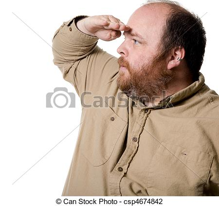Stock Photo of Looking Far Away.