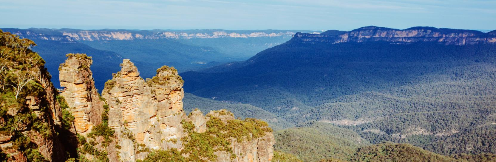 Guide To The Three Sisters, New South Wales.