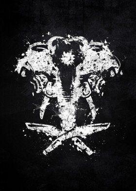 far cry 4 logo elephant kyrat ajay ghale video game white.