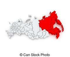 Far eastern federal district russian federation Illustrations and.