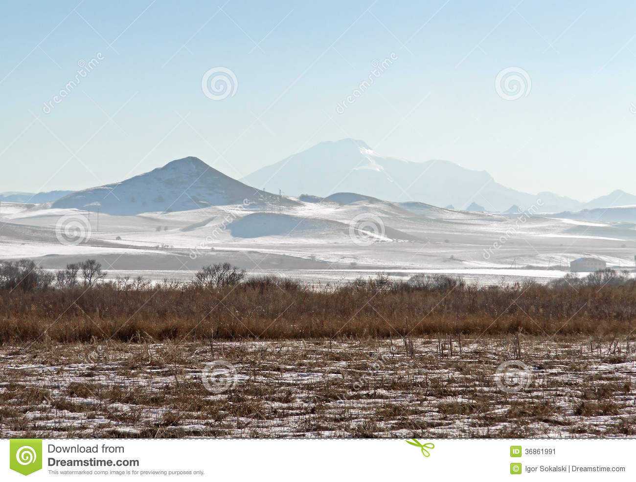Plains And Mountains Clipart.