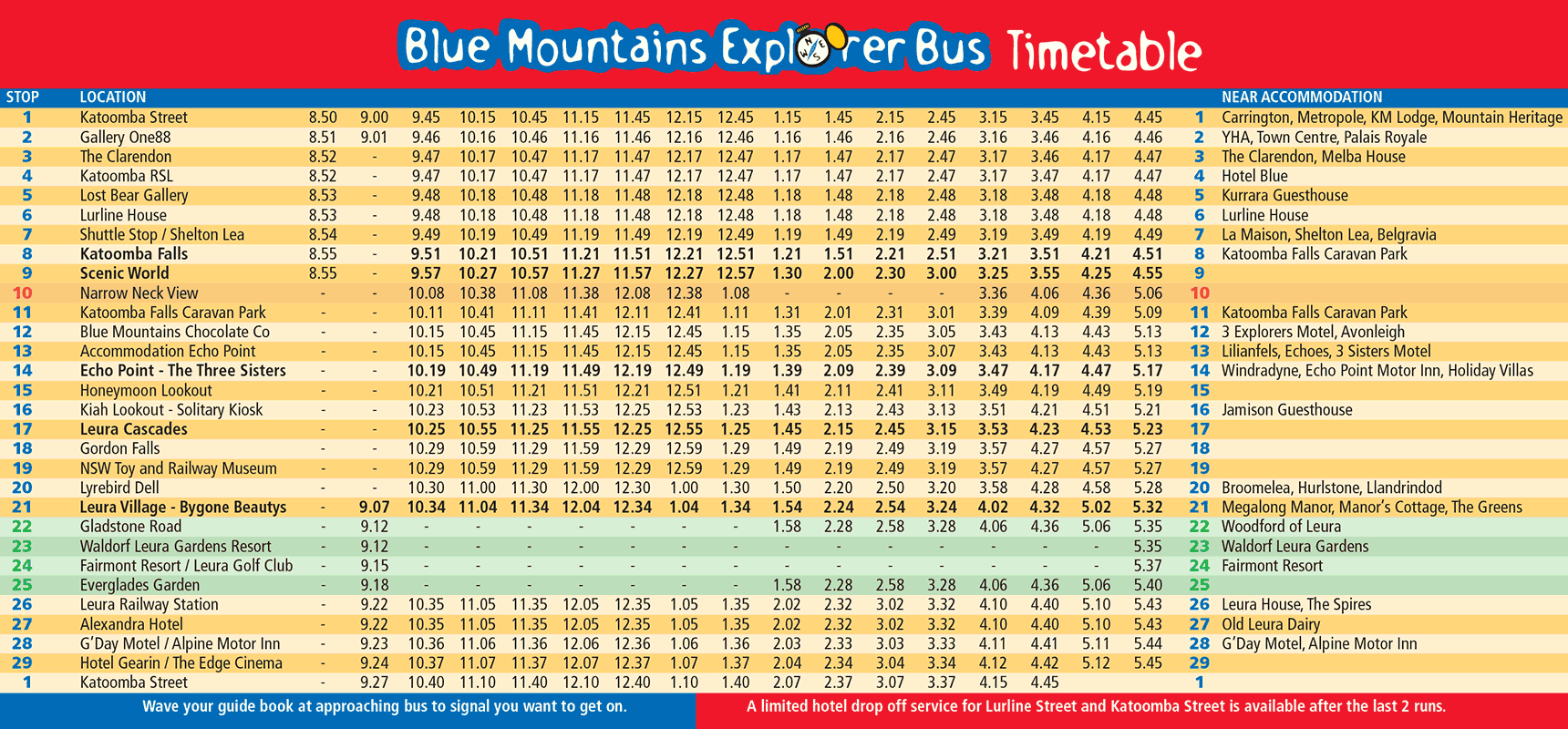Map & Timetable.