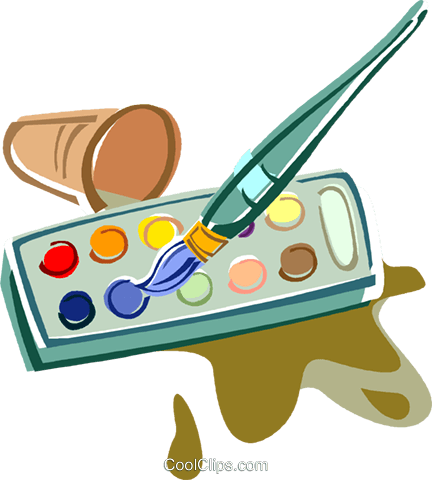 Pinsel und farbe clipart.