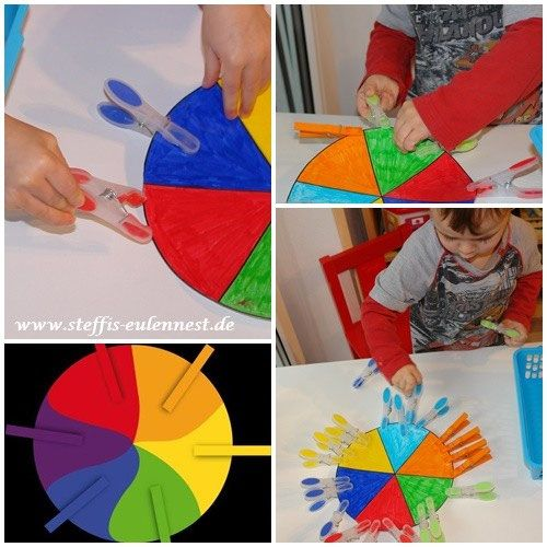 Spiele für Kinder, Farbenspiel, Krippe, Kita, U3, Motorik.