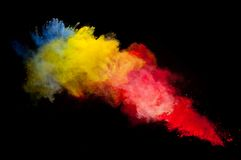 Color Powder Explosion Isolated White Stock Photos, Images.