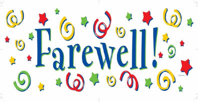 Collection of Farewell clipart.