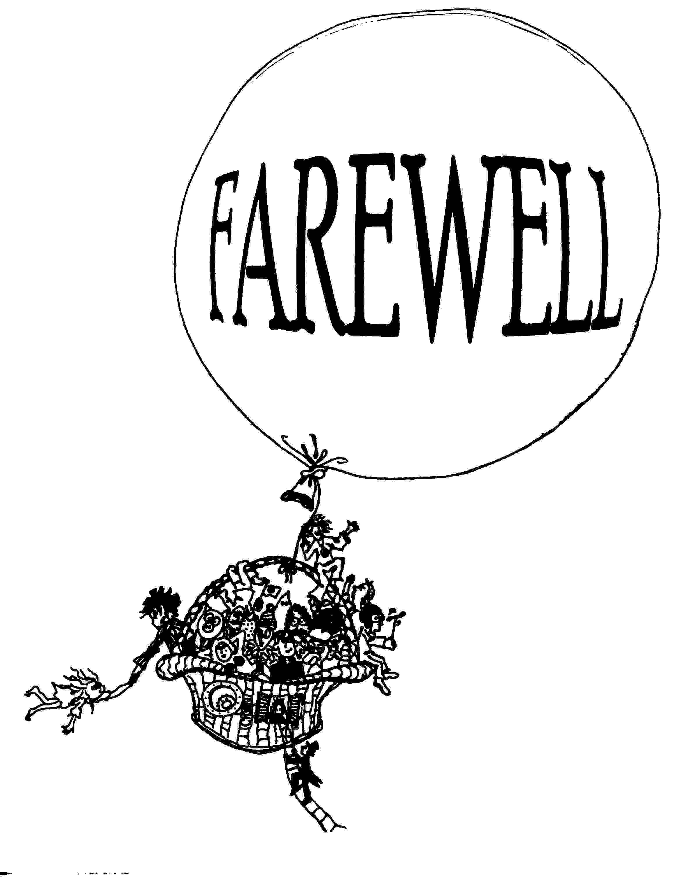 Farewell party clipart.