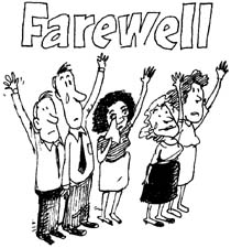 Free farewell clipart images.