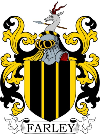Farley Coat of Arms Meanings and Family Crest Artwork.
