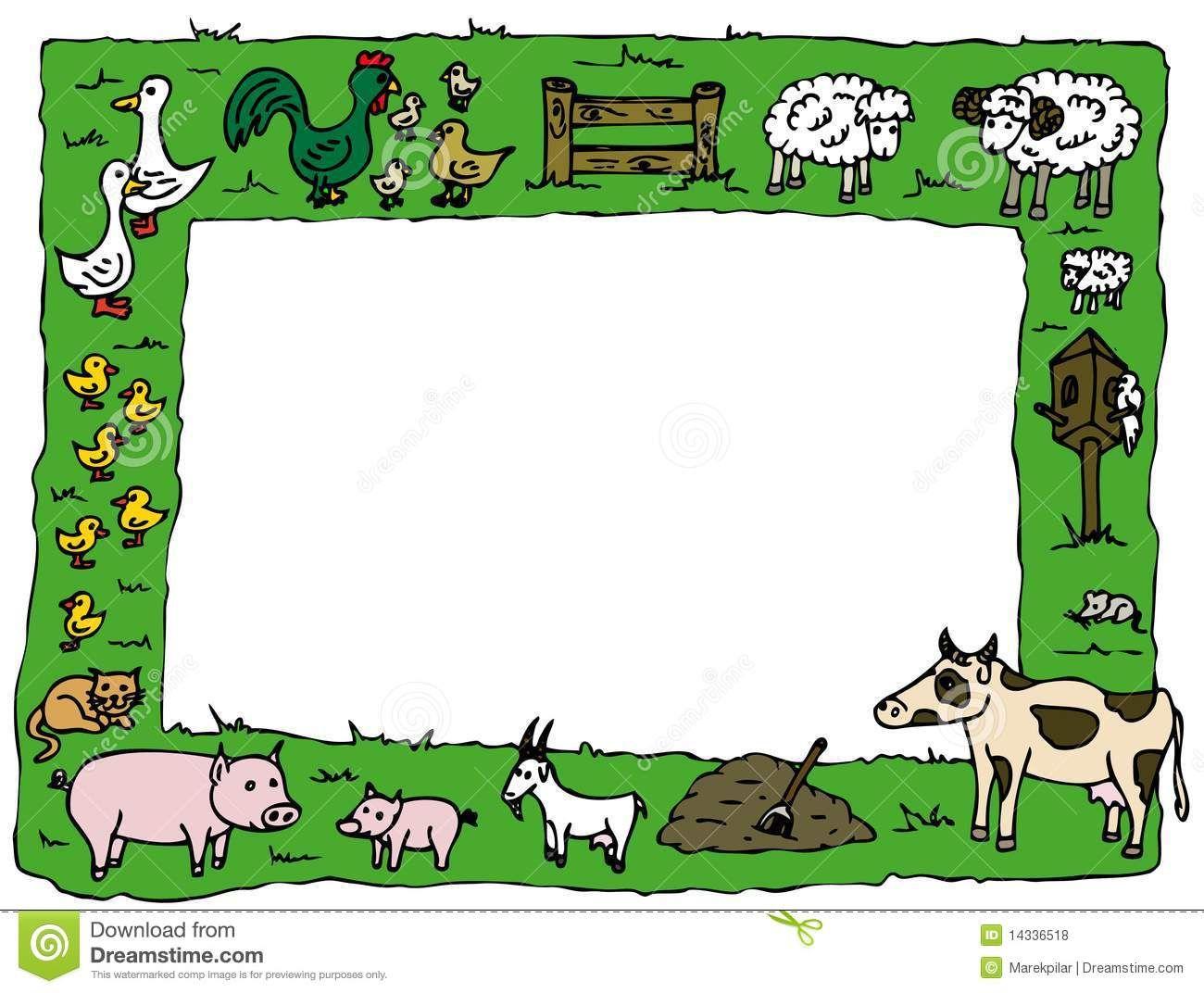 farm animal border clipart.