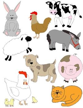 Farm animal clipart for teachers.