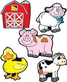 Cute farm animal clipart.