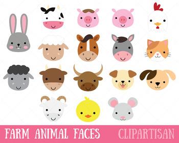 Farm Animals Clip Art, Farmyard Printable.