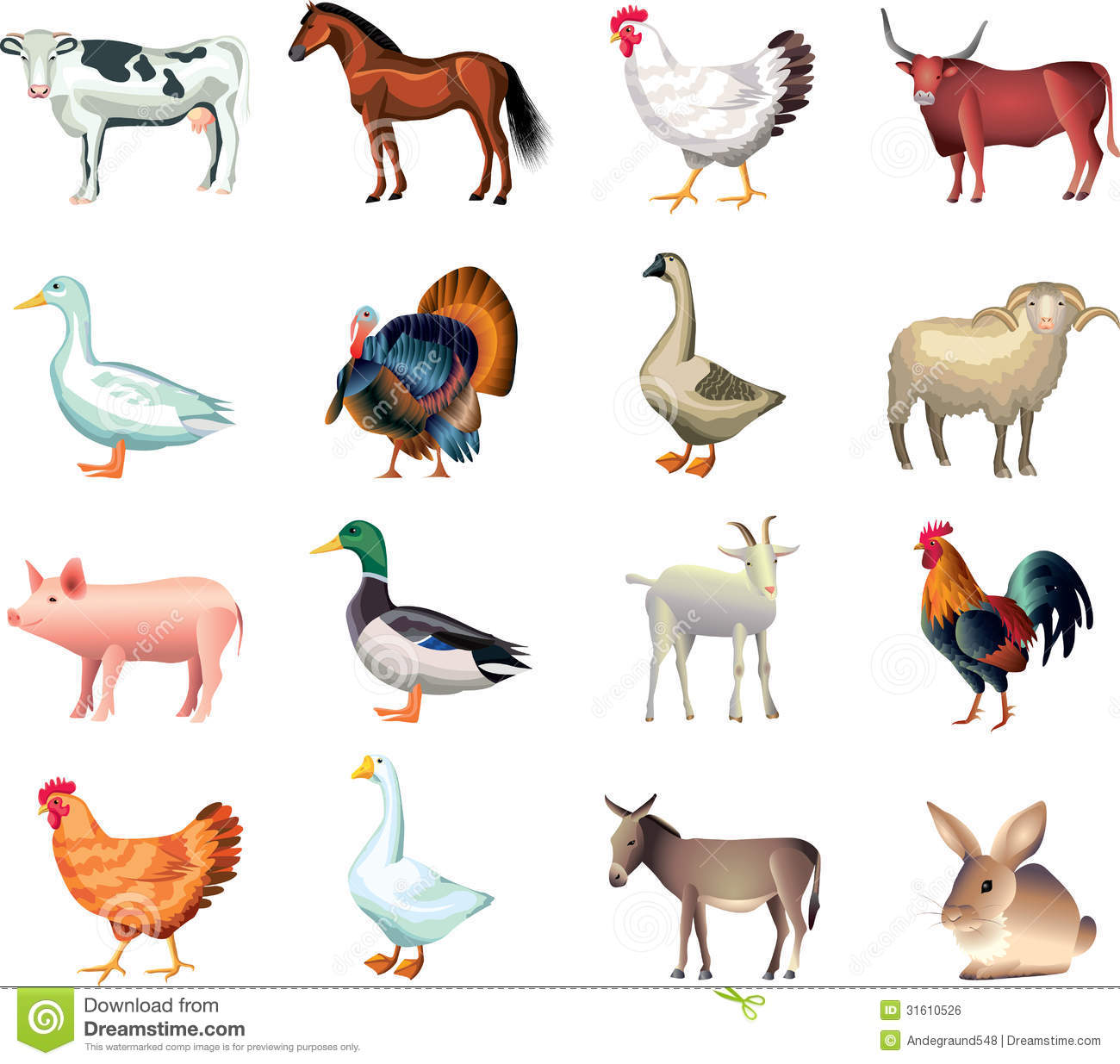 Farm animal free clipart.