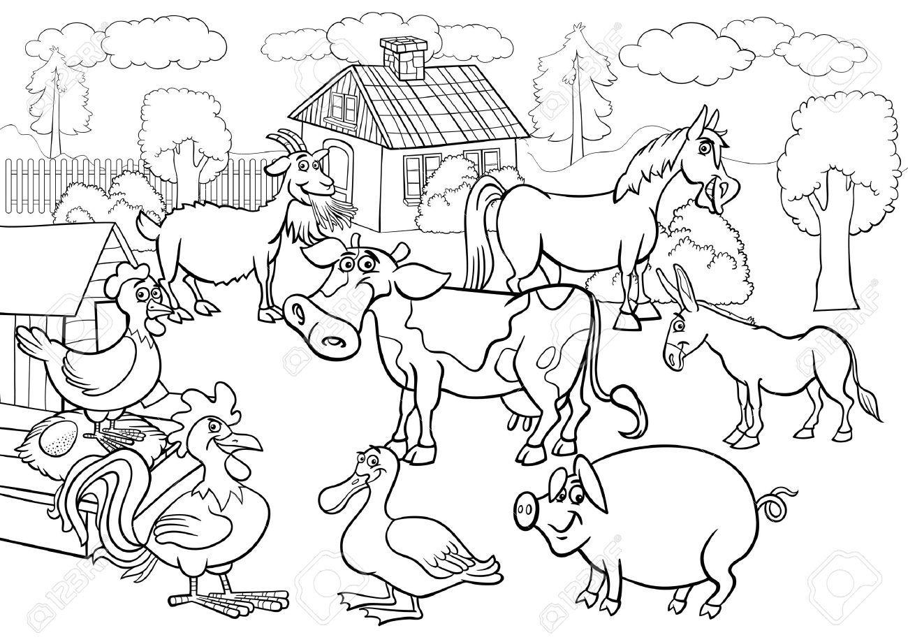 Farm animals clipart black and white 8 » Clipart Portal.