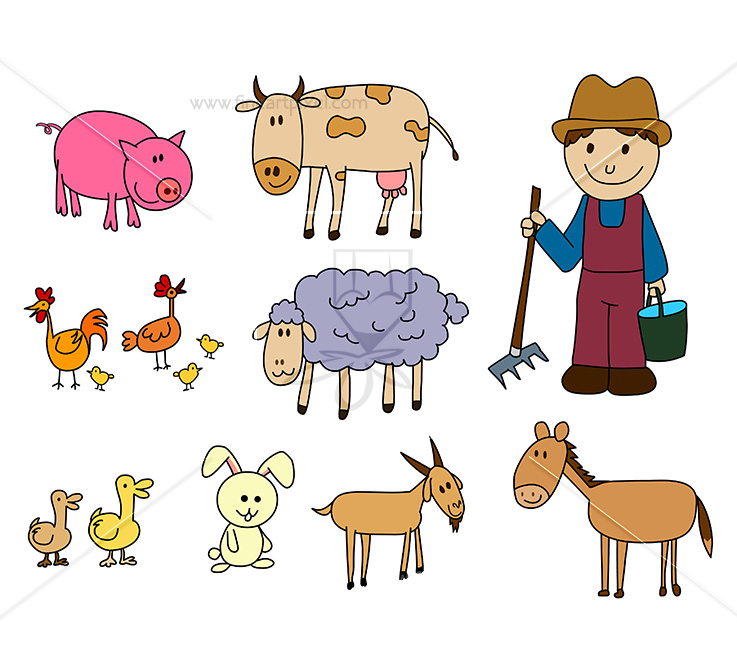 Farm animals clipart png 1 » Clipart Station.