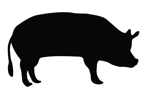 show hog silhouette clipart - Clipground