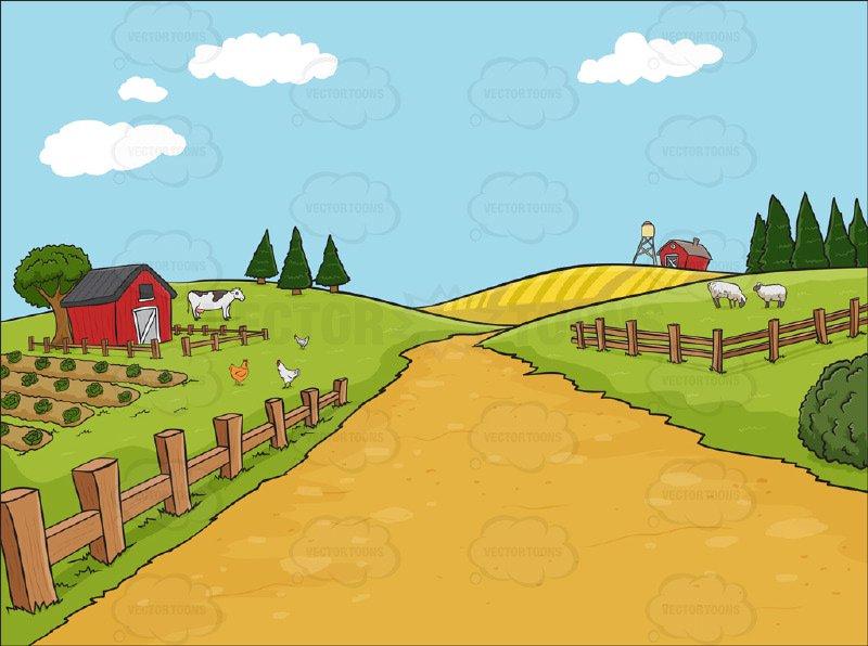 Farm background clipart » Clipart Station.