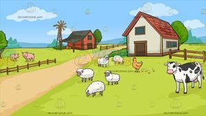 A Farm Background.