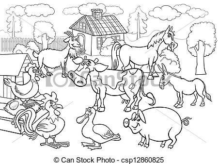 Free Clipart Farm Animals Black And White.