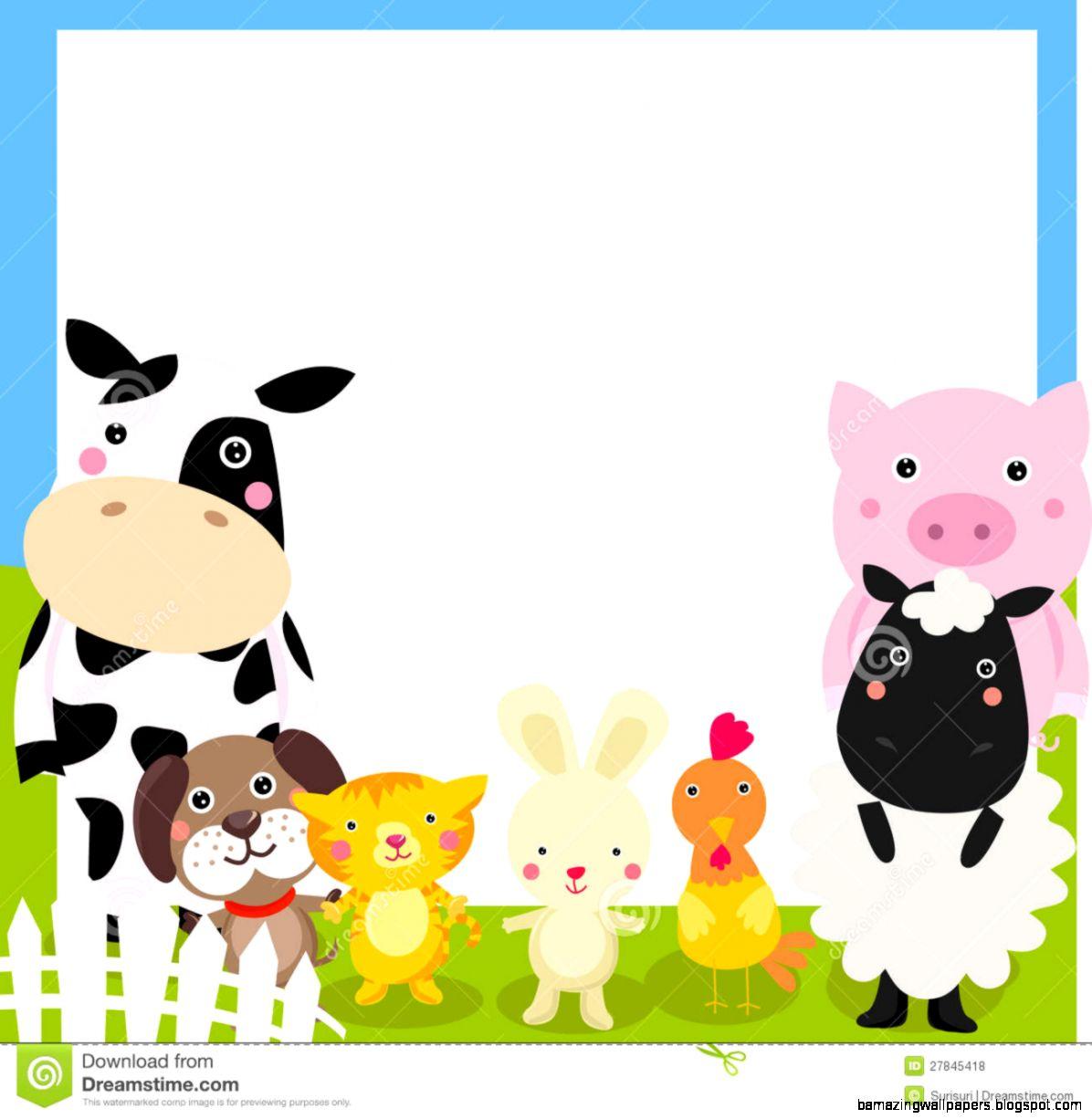 Free farm animal border clipart.