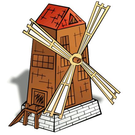 Windmill clipart #6
