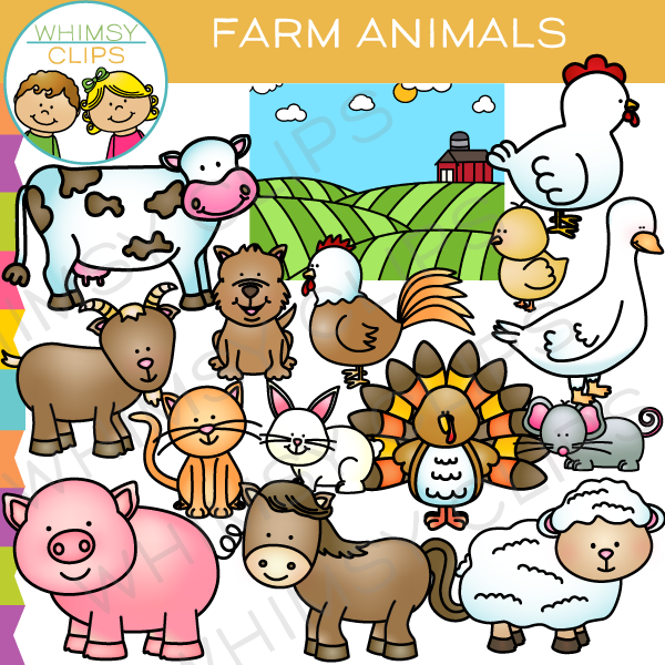 Farm Animals Clip Art , Images & Illustrations.