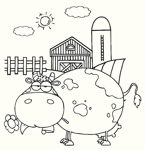 Farm Clipart Black And White Pictures Illustrations, Royalty.