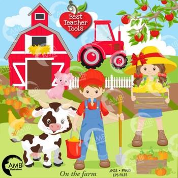 Farm Clipart, Farm Animal Clipart, (Best Teacher Tools} AMB.