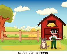 Working farm dog Vector Clipart Illustrations. 24 Working farm dog.