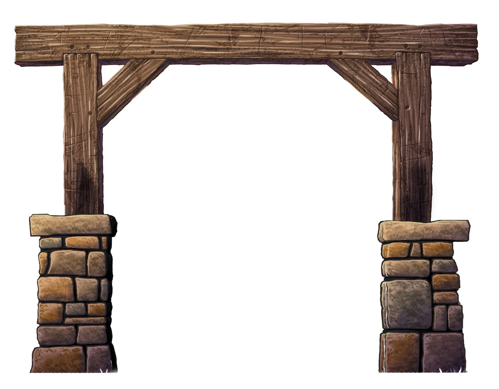 Farm gate clipart.