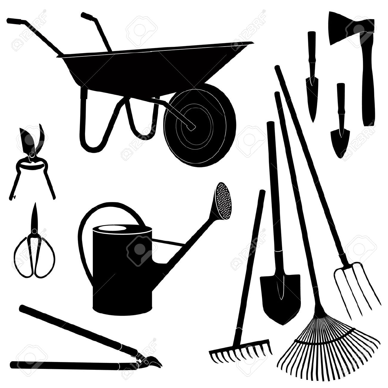 Farm equipments clipart - Clipground