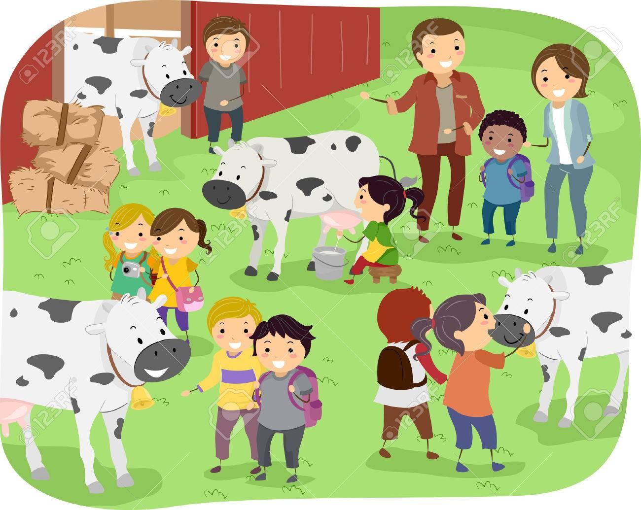 Farm Field Trip Clipart.