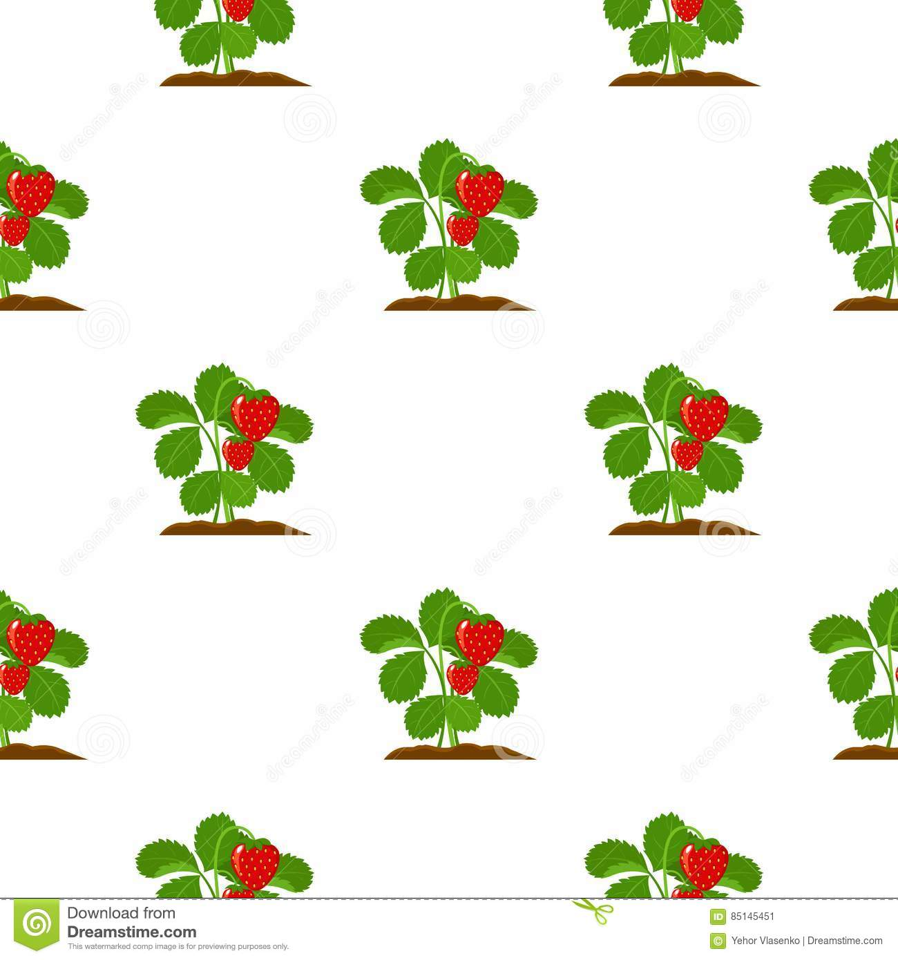 Strawberry Icon Cartoon. Single Plant Icon From The Big Farm.