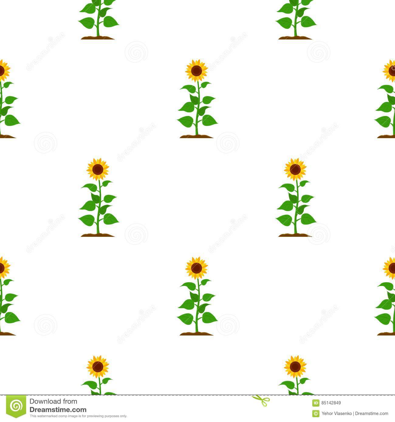 Sunflower Icon Cartoon. Single Plant Icon From The Big Farm.