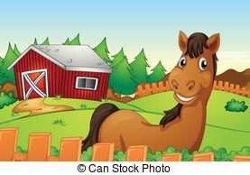 Horse Farm Clip Art.