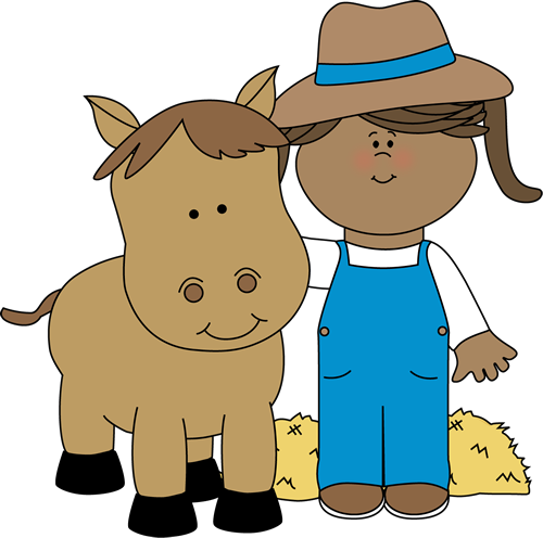 clipart of child and horse #11