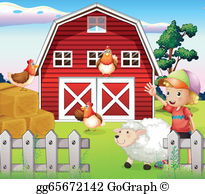 Farmhouse Clip Art.